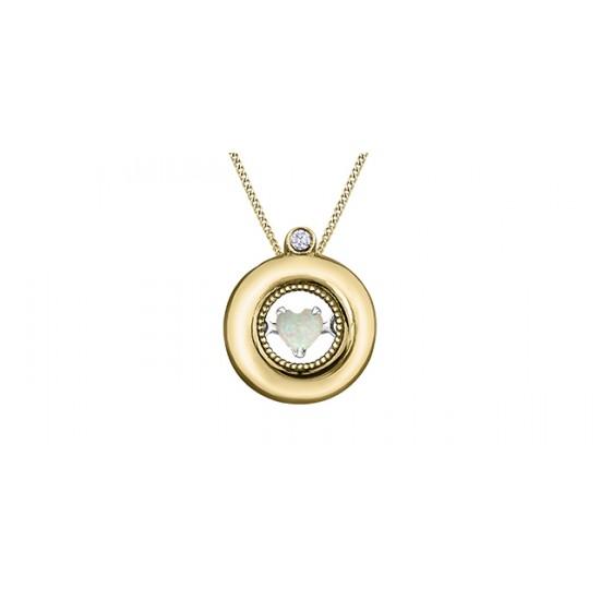 Pendentif à diamant et opale